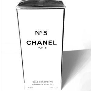 Chanel 5 gold fragments sparkling body gel